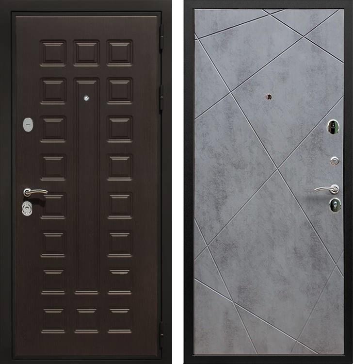 Входная металлическая дверь Армада Триумф 3К Лучи (Венге / Бетон тёмный)