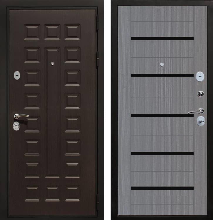 Входная металлическая дверь Армада Триумф 3К СБ-14 (Венге / Лиственница серая)