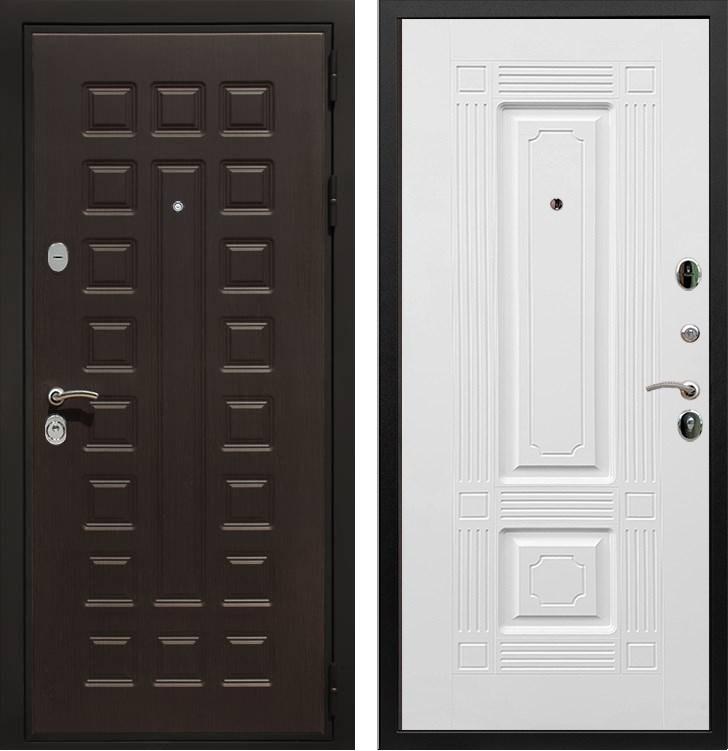 Входная металлическая дверь Армада Триумф 3К ФЛ-2 (Венге / Белый силк сноу)