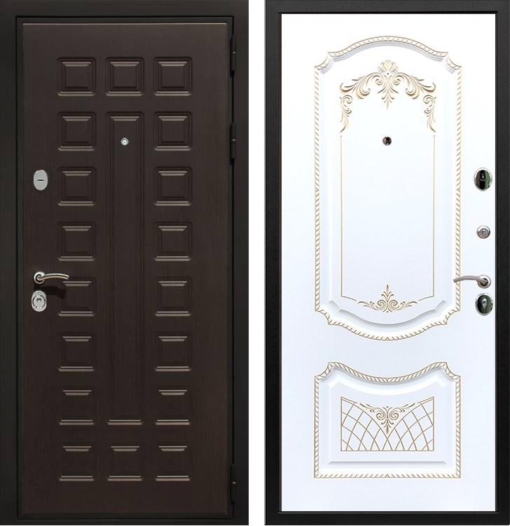Входная металлическая дверь Армада Триумф 3К ФЛ-317 (Венге / Белый патина Золото)