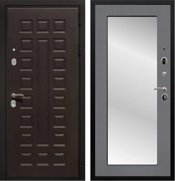 Входная металлическая дверь Армада Триумф 3К с Зеркалом Пастораль (Венге / Графит софт)