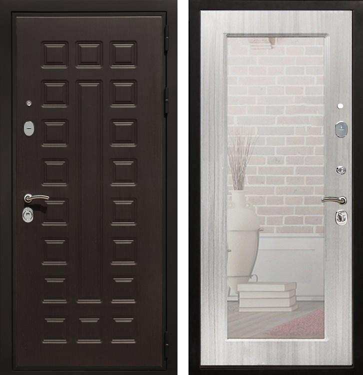 Входная металлическая дверь Армада Триумф 3К с Зеркалом Пастораль (Венге / Сандал белый)