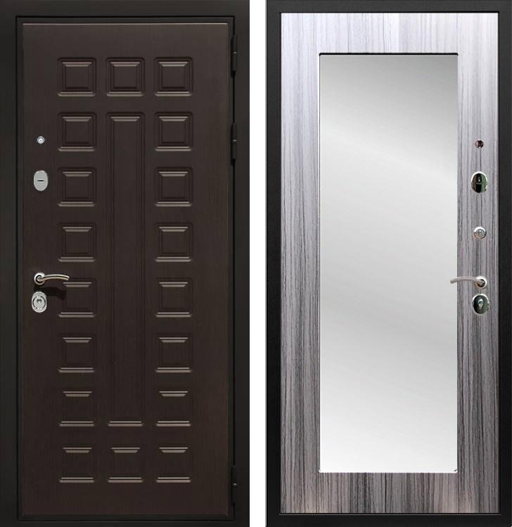 Входная металлическая дверь Армада Триумф 3К с Зеркалом Пастораль (Венге / Сандал серый)