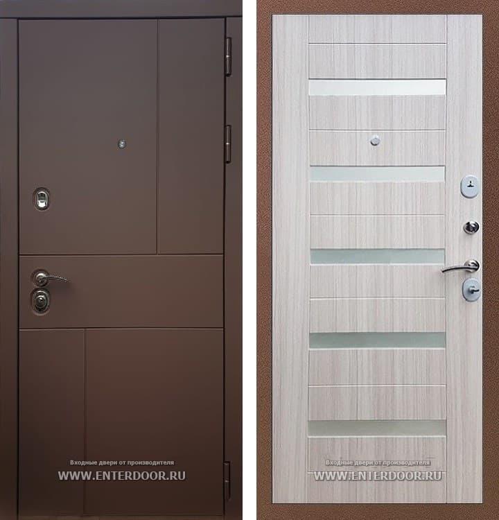 Входная металлическая дверь Армада Урбан СБ-14 (Ясень шоколадный / Сандал белый)