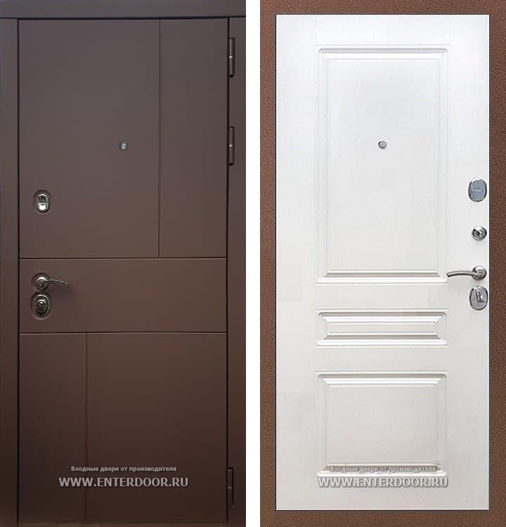 Входная металлическая дверь Армада Урбан ФЛ-243 (Ясень шоколадный / Белый софт)