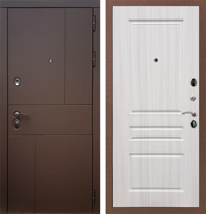 Входная металлическая дверь Армада Урбан ФЛ-243 (Ясень шоколадный / Сандал белый)
