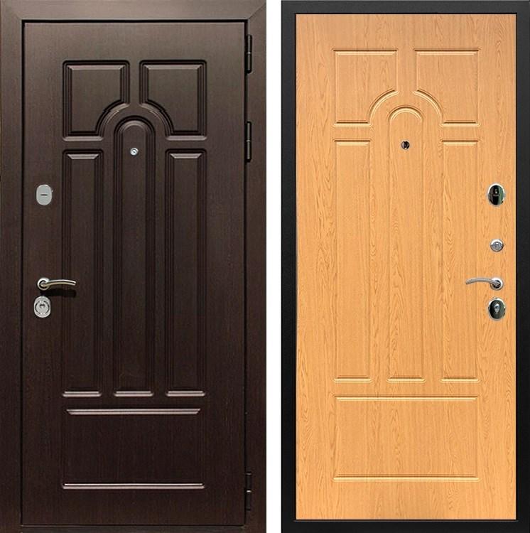 Входная металлическая дверь Армада Эврика 3К (Венге / Дуб натуральный)