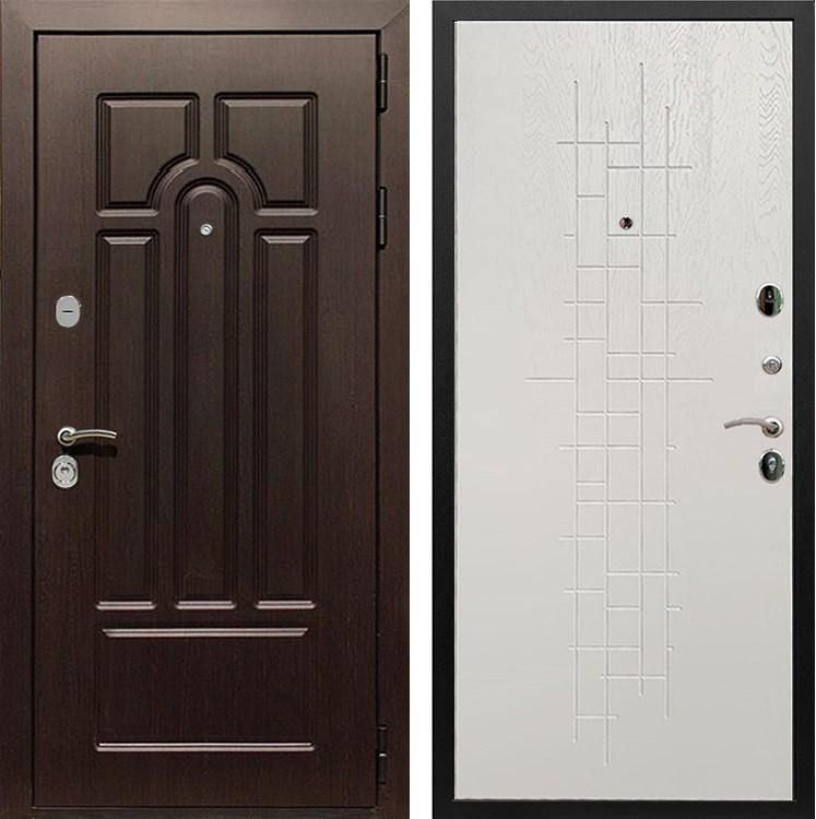 Входная металлическая дверь Армада Эврика 3К (Венге / Роял Вуд белый)