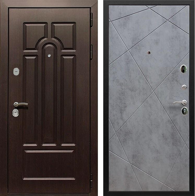 Входная металлическая дверь Армада Эврика 3К Лучи (Венге / Бетон тёмный)