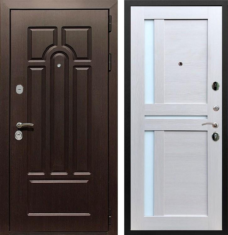 Входная металлическая дверь Армада Эврика 3К СБ-18 (Венге / Лиственница беж)