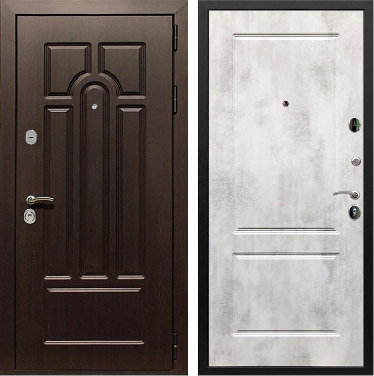 Входная металлическая дверь Армада Эврика 3К ФЛ-117 (Венге / Бетон светлый)