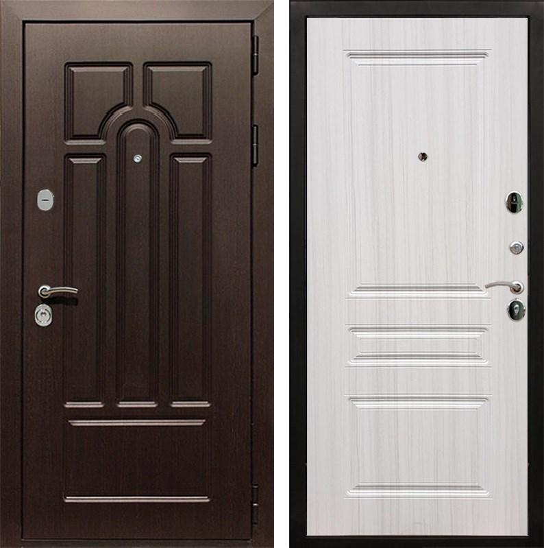Входная металлическая дверь Армада Эврика 3К ФЛ-243 (Венге / Сандал белый)