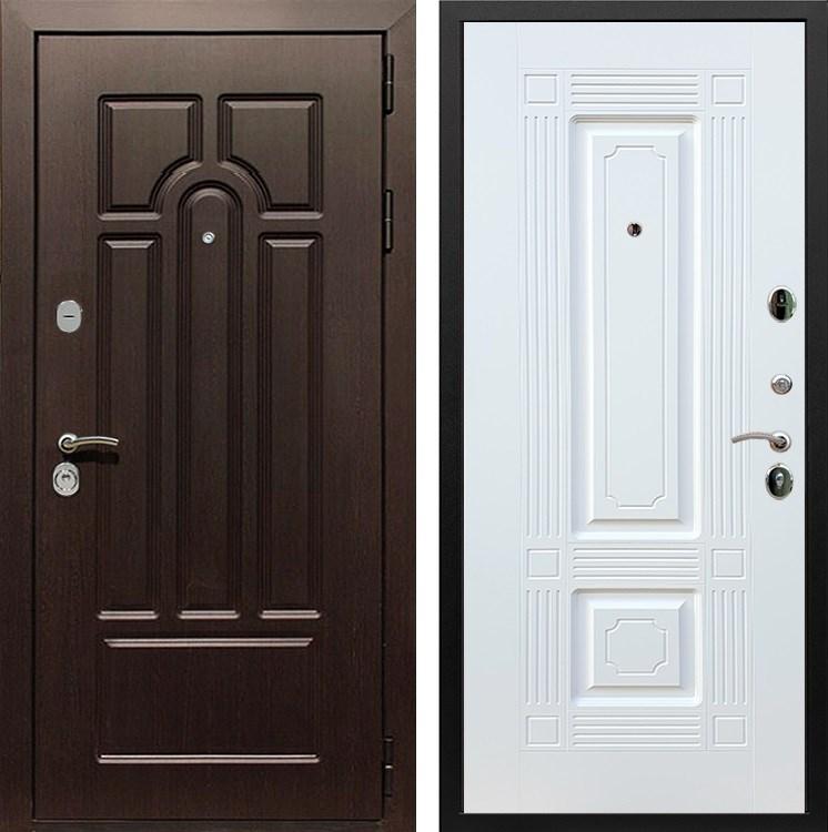 Входная металлическая дверь Армада Эврика 3К ФЛ-2 (Венге / Белый силк сноу)
