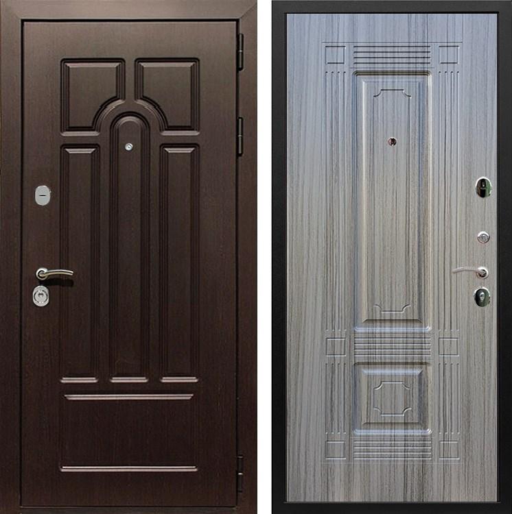 Входная металлическая дверь Армада Эврика 3К ФЛ-2 (Венге / Сандал серый)
