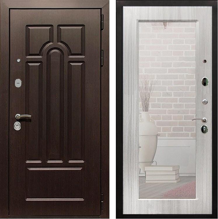 Входная металлическая дверь Армада Эврика 3К с Зеркалом Пастораль (Венге / Сандал белый)