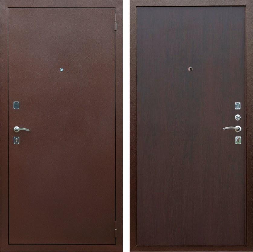 Входная металлическая дверь Армада Эконом (Антик медь / Венге)
