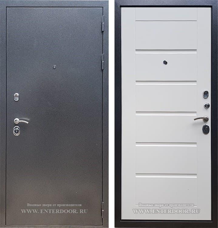 Входная металлическая дверь Армада 11 (Антик серебро / Белый ясень)