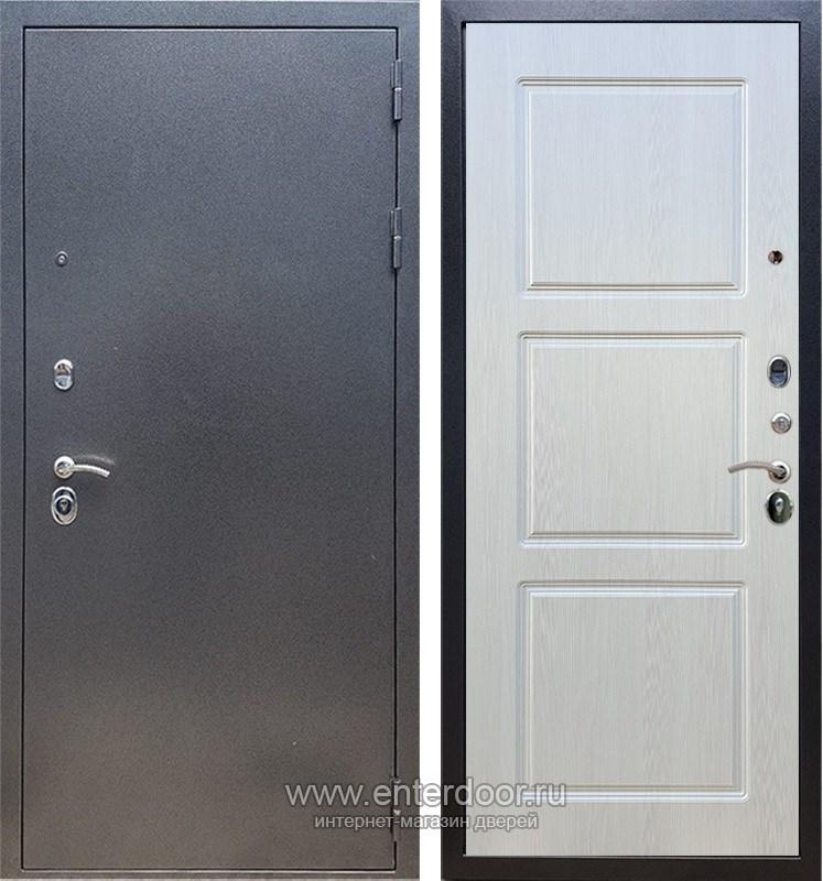 Входная металлическая дверь Армада 11 ФЛ-3 (Антик серебро / Лиственница беж)