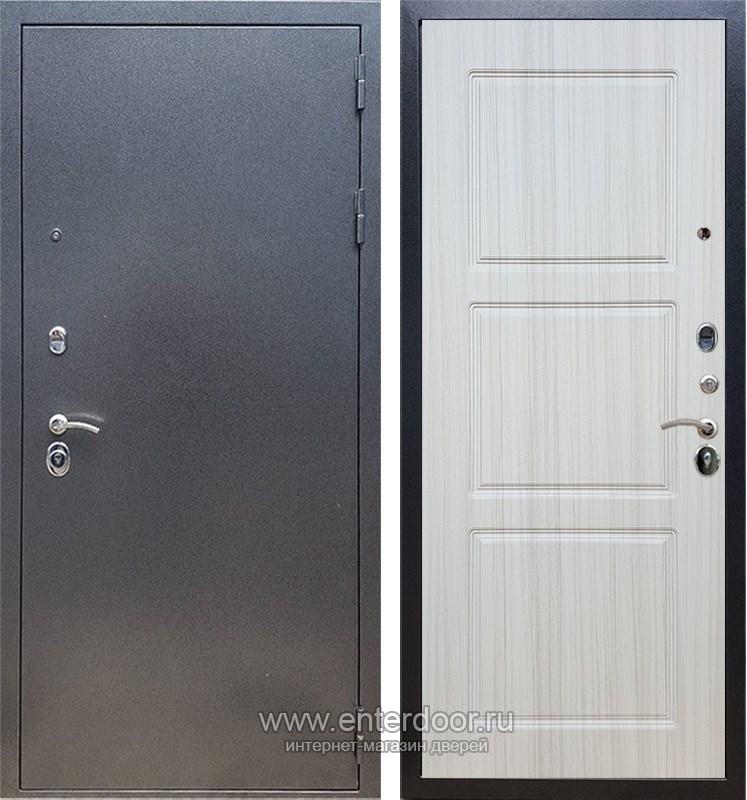 Входная металлическая дверь Армада 11 ФЛ-3 (Антик серебро / Сандал белый)