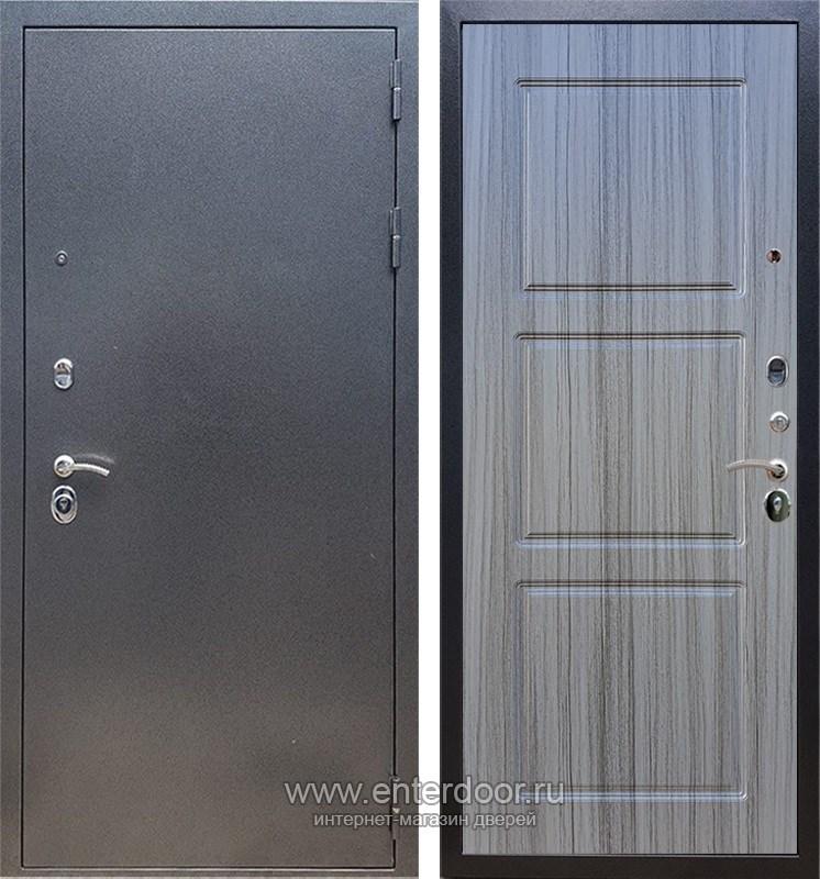 Входная металлическая дверь Армада 11 ФЛ-3 (Антик серебро / Сандал серый)