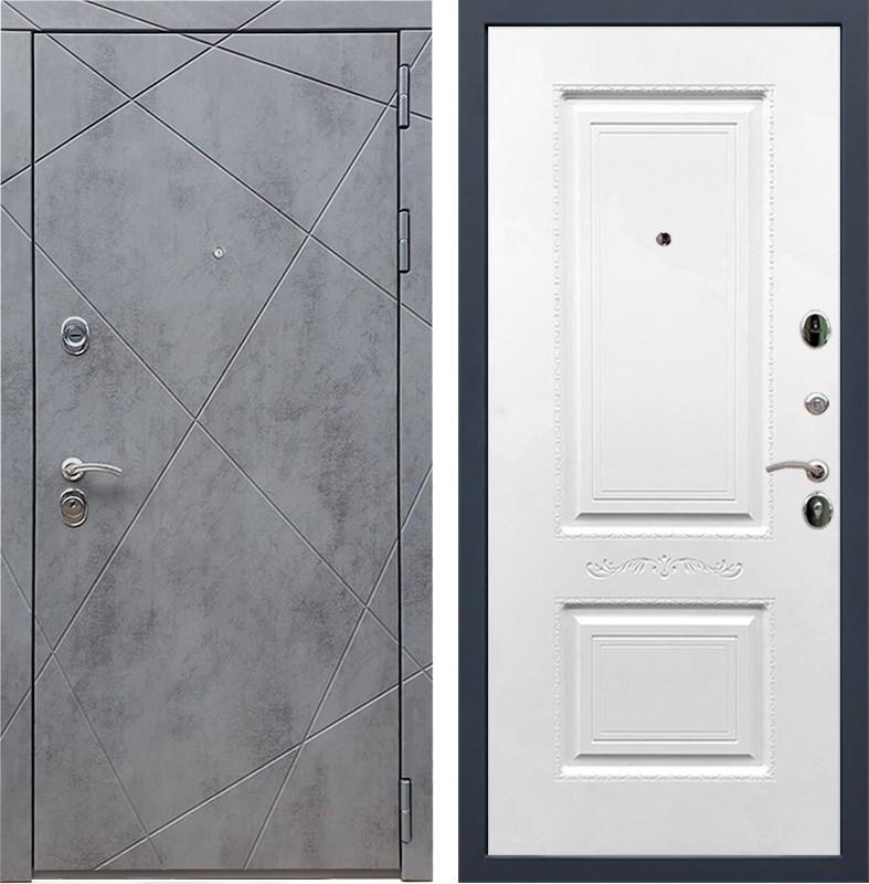 Входная металлическая дверь Армада 13 Смальта 04 (Бетон тёмный / Белый)