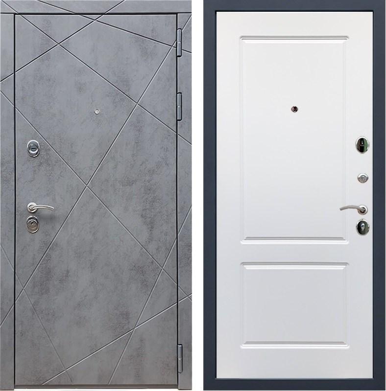 Входная металлическая дверь Армада 13 ФЛ-117 (Бетон тёмный / Белый софт)
