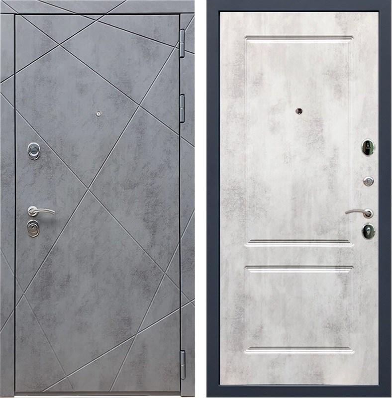 Входная металлическая дверь Армада 13 ФЛ-117 (Бетон тёмный / Бетон светлый)
