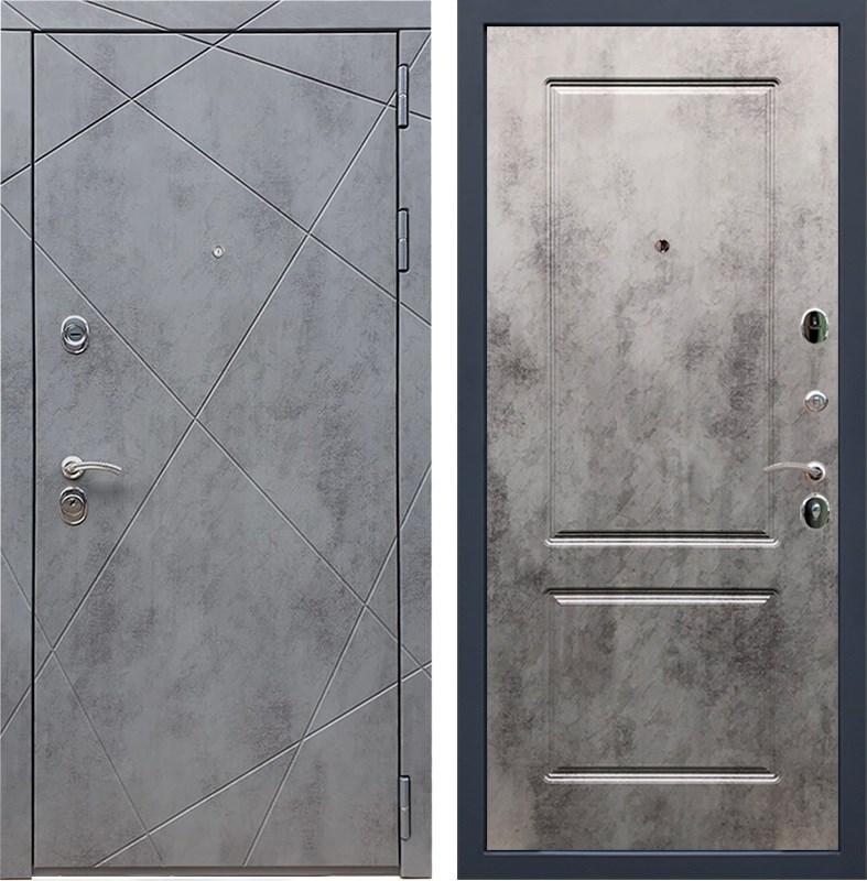 Входная металлическая дверь Армада 13 ФЛ-117 (Бетон тёмный / Бетон тёмный)
