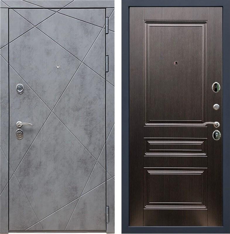 Входная металлическая дверь Армада 13 ФЛ-243 (Бетон тёмный / Венге)