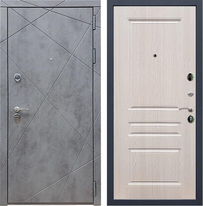 Входная металлическая дверь Армада 13 ФЛ-243 (Бетон тёмный / Дуб белёный)
