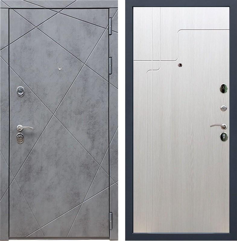 Входная металлическая дверь Армада 13 ФЛ-246 (Бетон тёмный / Лиственница беж)