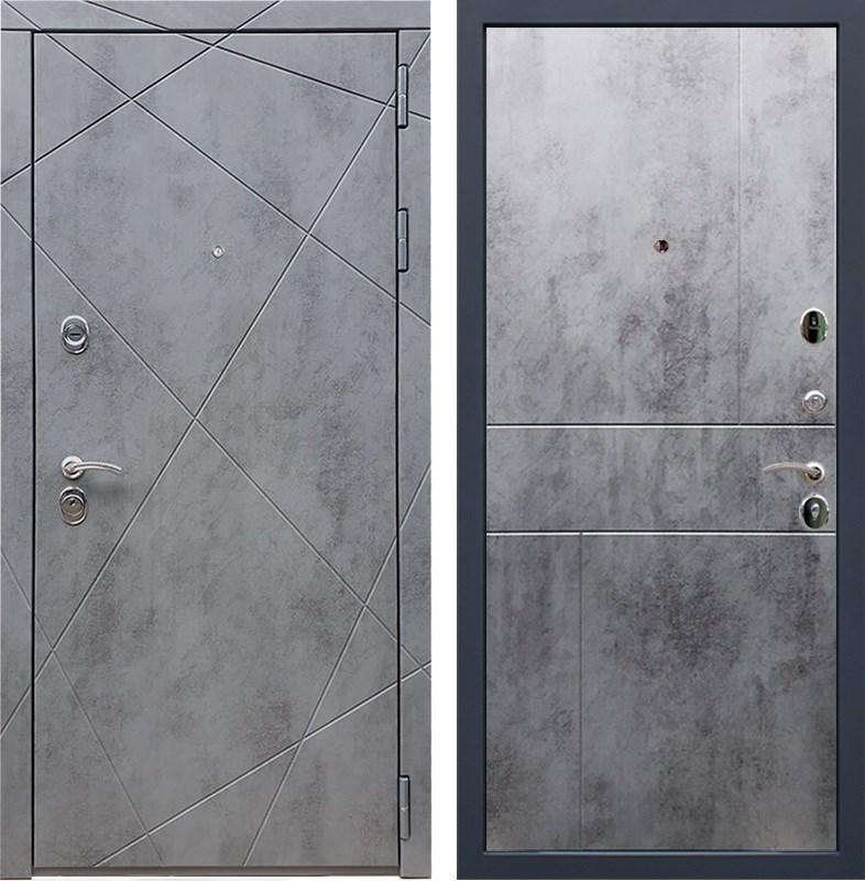 Входная металлическая дверь Армада 13 ФЛ-290 (Бетон тёмный / Бетон тёмный)