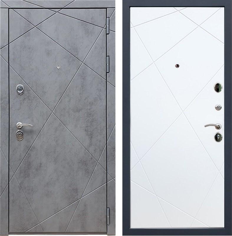 Входная металлическая дверь Армада 13 ФЛ-291 (Бетон тёмный / Белый софт)