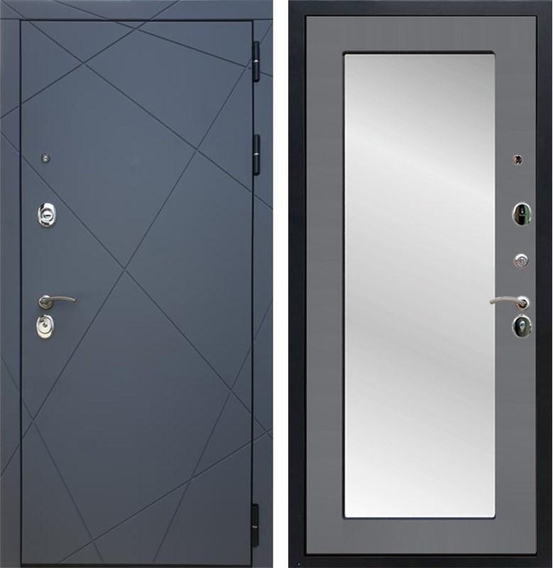 Входная металлическая дверь Армада 13 с Зеркалом Пастораль (Графит софт / Графит софт)