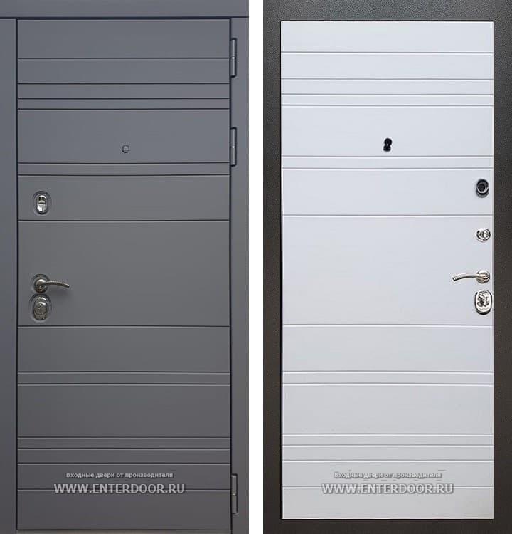 Входная металлическая дверь Армада 14 (Графит софт / Белый софт)
