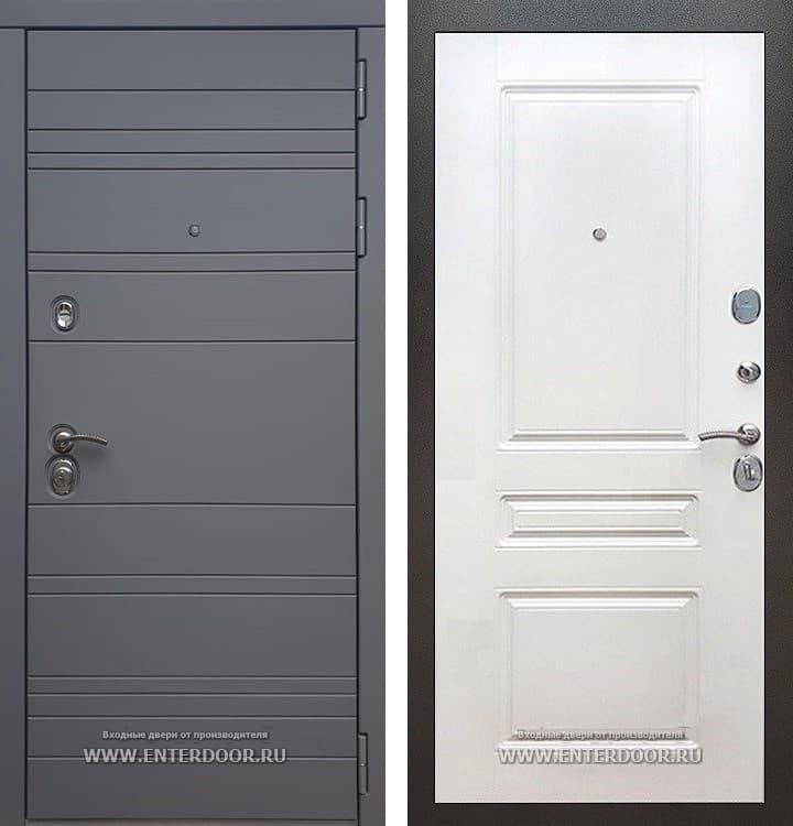Входная металлическая дверь Армада 14 ФЛ-243 (Графит софт / Белый софт)