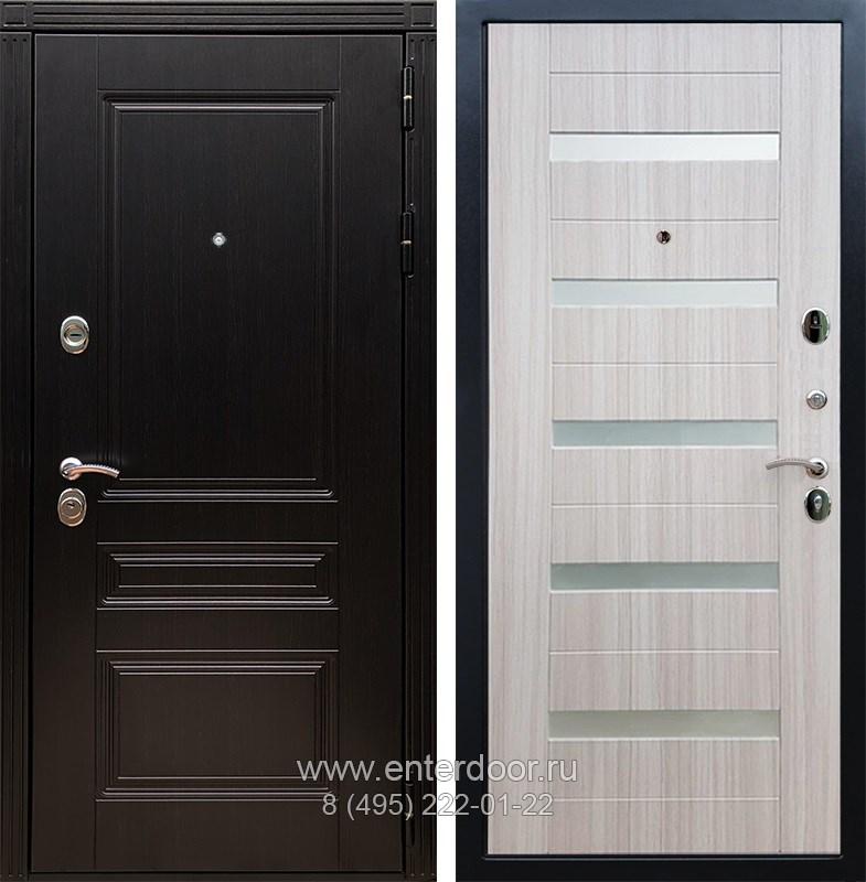 Входная металлическая дверь Армада 17 Мегаполис СБ-14 (Венге / Сандал белый)