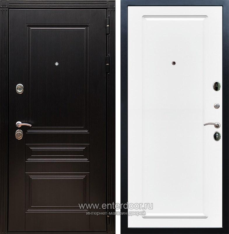Входная металлическая дверь Армада 17 Мегаполис ФЛ-119 (Венге / Белый матовый)