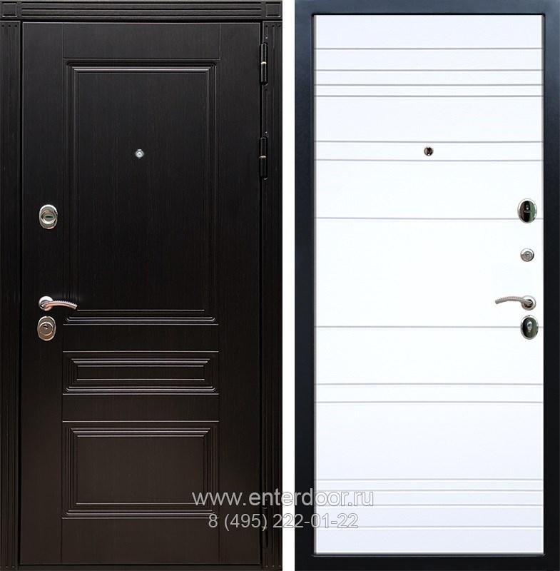 Входная металлическая дверь Армада 17 Мегаполис ФЛ-14 (Венге / Белый софт)