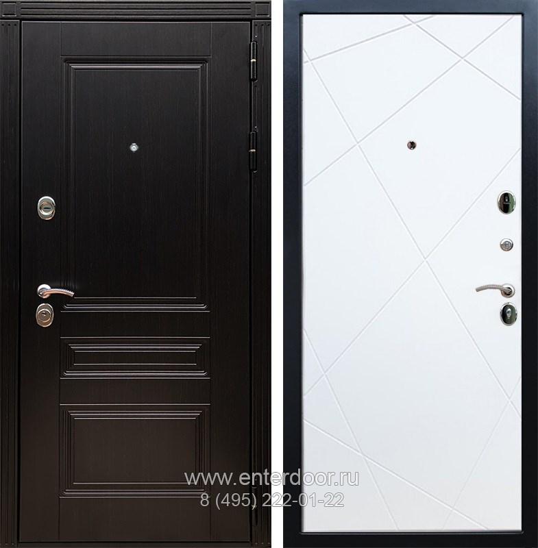 Входная металлическая дверь Армада 17 Мегаполис ФЛ-291 (Венге / Белый софт)