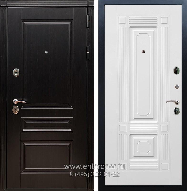 Входная металлическая дверь Армада 17 Мегаполис ФЛ-2 (Венге / Белый силк сноу)