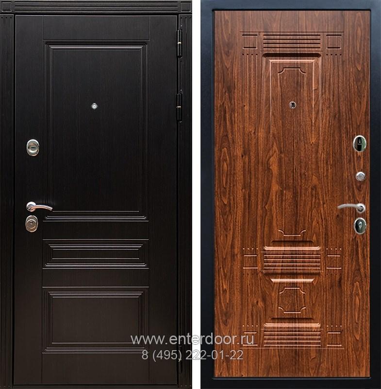 Входная металлическая дверь Армада 17 Мегаполис ФЛ-2 (Венге / Берёза морёная)