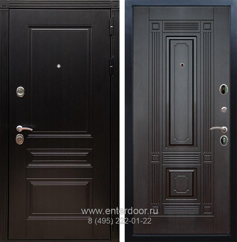 Входная металлическая дверь Армада 17 Мегаполис ФЛ-2 (Венге / Венге)