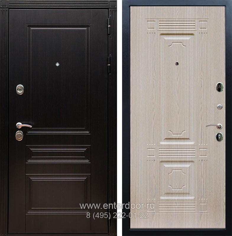 Входная металлическая дверь Армада 17 Мегаполис ФЛ-2 (Венге / Дуб белёный)