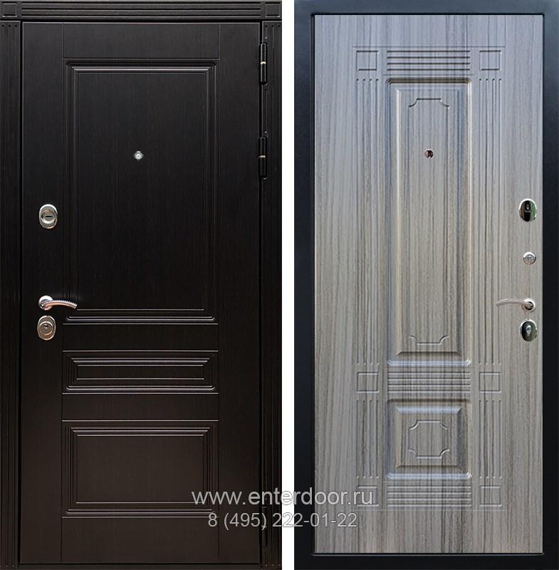 Входная металлическая дверь Армада 17 Мегаполис ФЛ-2 (Венге / Сандал серый)