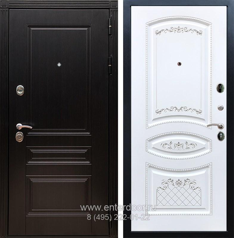Входная металлическая дверь Армада 17 Мегаполис ФЛ-316 (Венге / Белый патина Серебро)