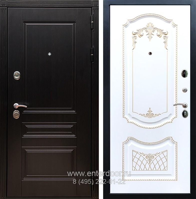 Входная металлическая дверь Армада 17 Мегаполис ФЛ-317 (Венге / Белый патина Золото)