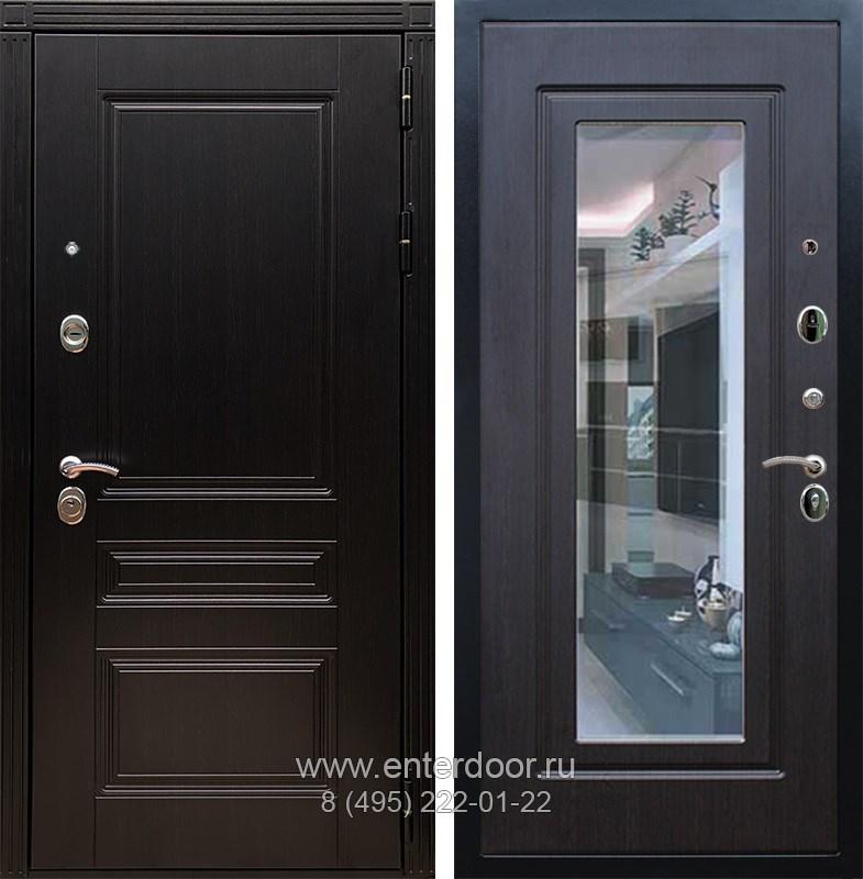 Входная металлическая дверь Армада 17 Мегаполис с Зеркалом (Венге / Венге)