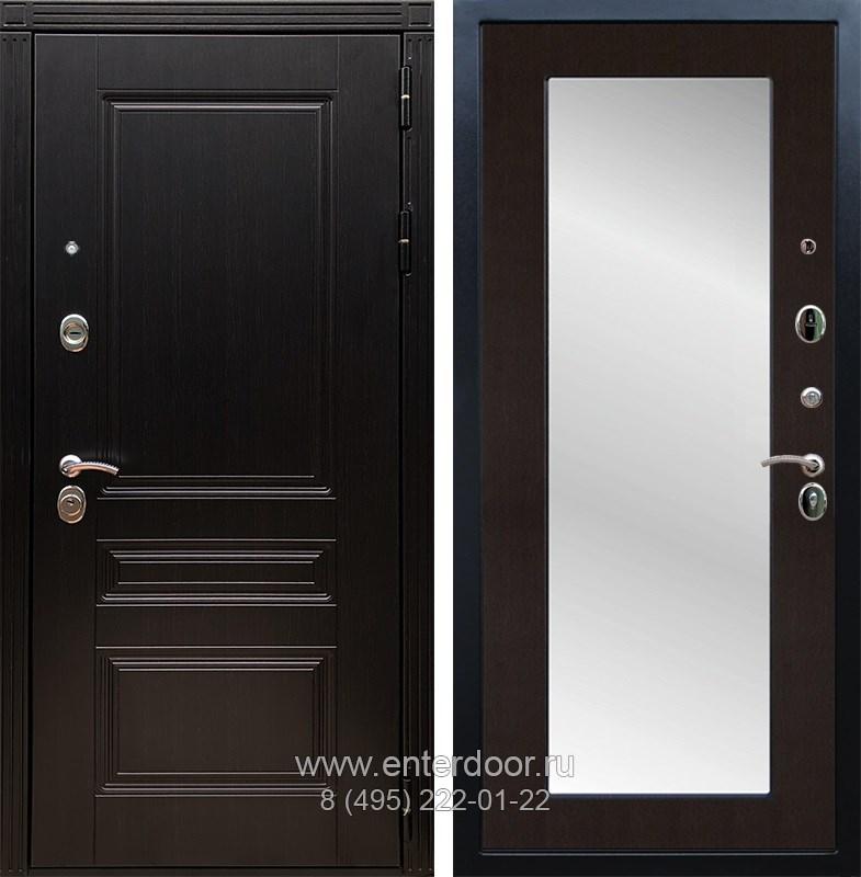 Входная металлическая дверь Армада 17 Мегаполис с Зеркалом Пастораль (Венге / Венге)