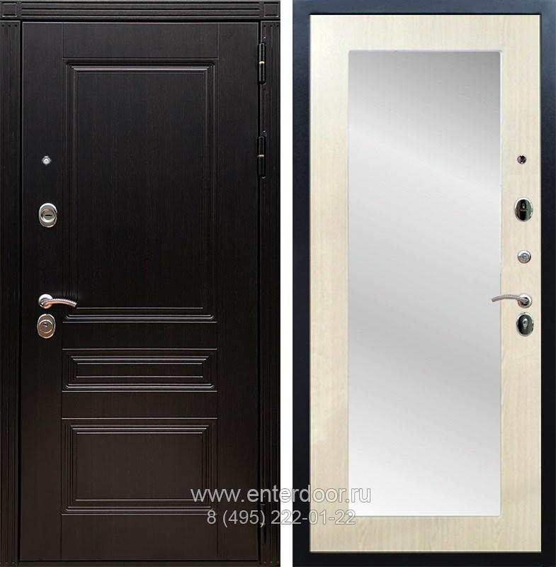Входная металлическая дверь Армада 17 Мегаполис с Зеркалом Пастораль (Венге / Лиственница беж)